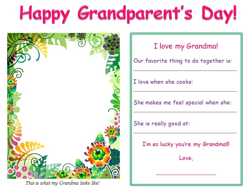 picture relating to Printable Grandparents Day Card named grandparents working day playing cards A Instant For Mother